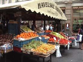3932313cb4d Havelska markedet i centrum af Prag